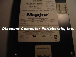 Maxtor 7213AI  210 Megabyte 3.5IN IDE Drive 7 In stock Tested Good Free USA Ship