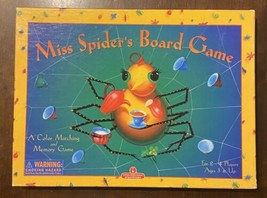 Miss Spider's Board Game A Color Matching And Memory Game Age 3 & Up - Free Ship - $16.34