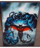 Batman Beyond vs Mr Freeze Glossy Art Print 11 x 17 In Hard Plastic Sleeve - $24.99