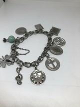Vintage Charm Bracelet 925 Sterling Silver Link Chain 7.5 Inch - $186.12