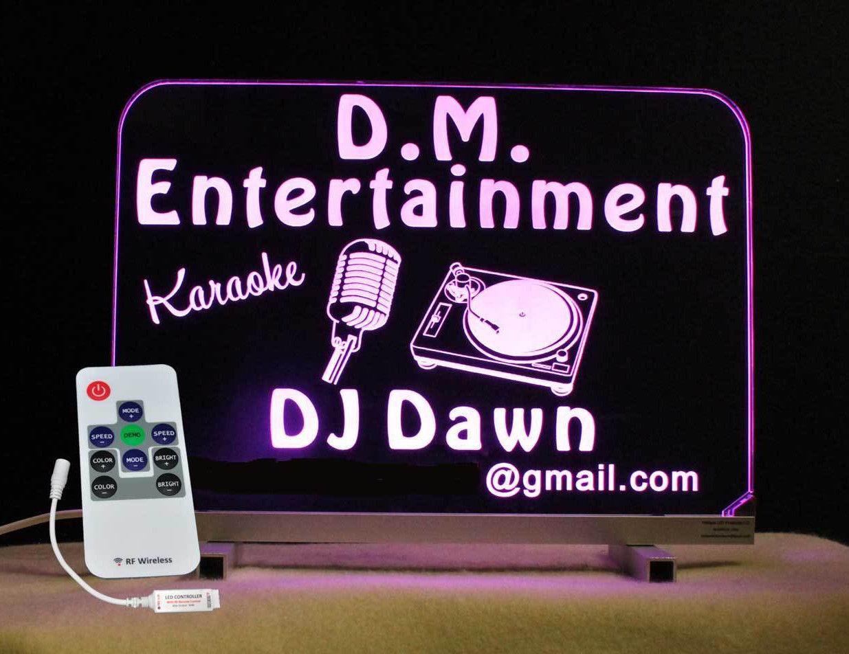 Personalized DJ Karaoke LED Bar Sign