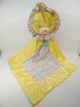 1996 Playskool Snuzzles bear lion Travel Satin Security Baby Blanket Handle - $49.49