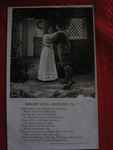 Vintage 1906 Real Photo with Poem Bright Eyes Good- Bye Solider and Girl... - $5.86