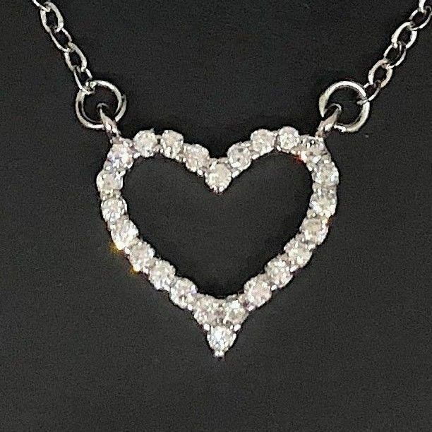 1 ct white heart diamond halo pendant necklace