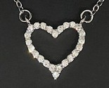 1 ct white heart diamond halo pendant necklace thumb155 crop