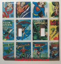DC Superhero Comics USPS Stamps Light Switch Power wall Cover Plate Home decor image 5