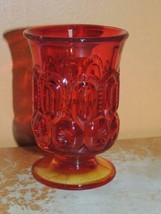 "Moon & Stars Amberina red 3.5"" Juice Glass L E Smith L G Wright EAPG US ... - $19.99"