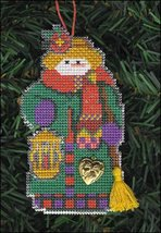 Delight Snow Folks Ornament kit christmas perforated paper cross stitch kit - $5.40