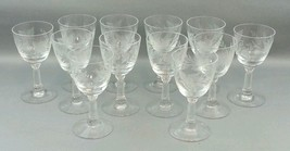 12 Vintage Clear Fostoria Sherry Claret Cordial Glasses - $98.99