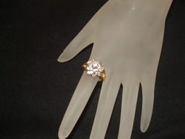 COLLECTIBLE vintage1970's merlite cz cluster ri... - $34.64
