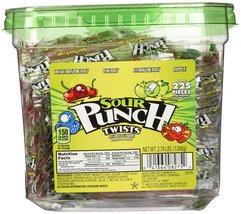 """Sour Punch 3"""" Wrapped Sour Twists 2.78lb Jar - $25.24"""