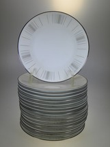 Noritake Isabella Appetizer Or Hors d'oeuvres Plates Set of 17 - $61.67
