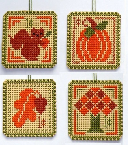 Primary image for Autumn 1 cent Holiday Stamps cross stitch chart Handblessings