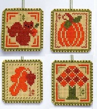 Autumn 1 cent Holiday Stamps cross stitch chart Handblessings - $5.00