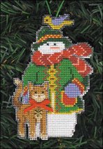 Merry Snow Folks Ornament kit christmas perforated paper cross stitch kit - $5.40