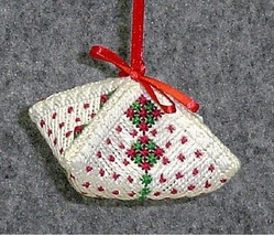 Freckled Damask Christmas Puff NEEDLEPOINT chart Handblessings - $8.00