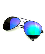 Polarized Sunglasses Full Mirror Flash Mirrored Aviator Sunglasses - $8.57