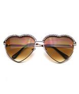Cute Chic Heart Shape Glam Rhinestone Aviator Sunglasses - $7.55