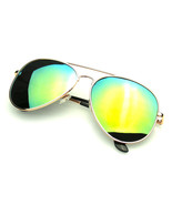 Original Gold Polarized Full Mirror Metal Aviator Sunglasses - $8.57