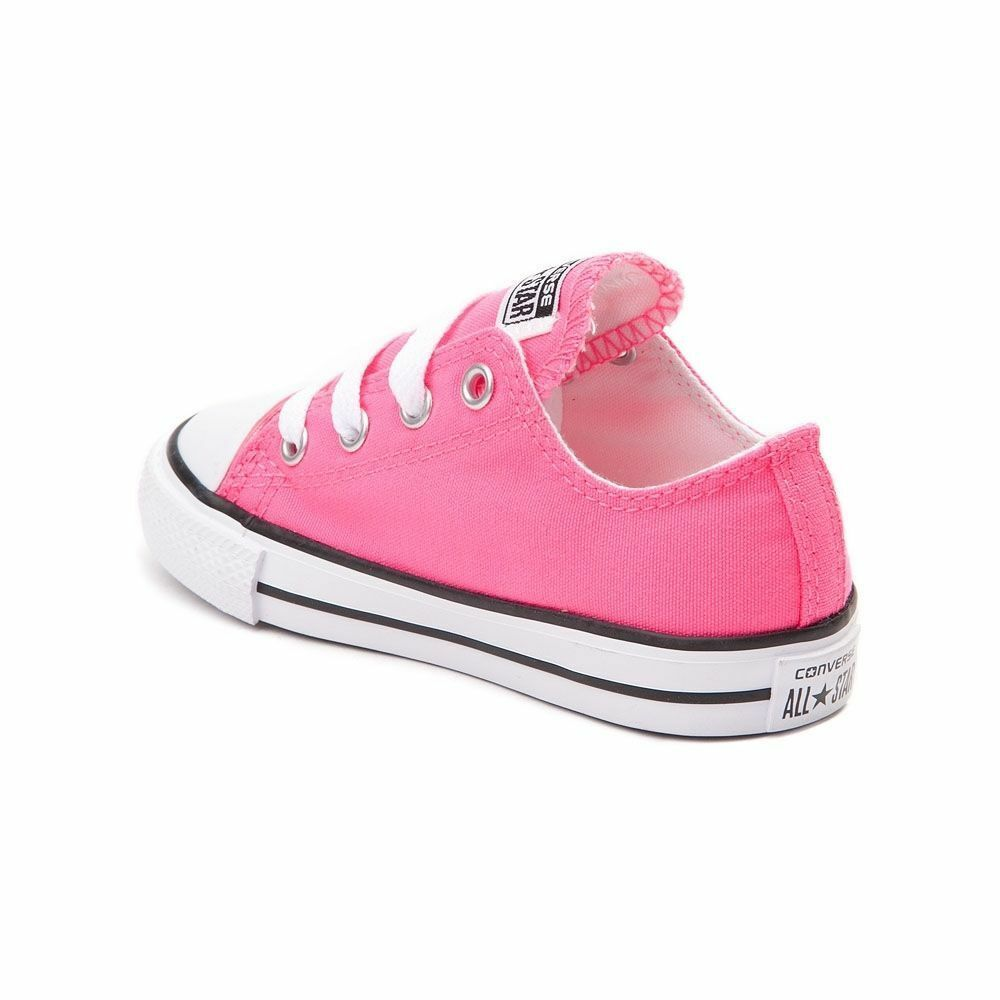 Converse All Star Chuck OX 7J238 Canvas Pink Kids Baby Toddler Shoes image 2