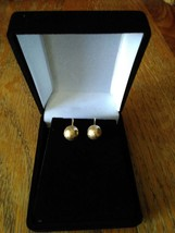 Vintage Ball Hammered Gold-Tone Clip-on Earrings - $19.99