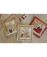 Christmas Ornament Trio cross stitch chart Barbara Ana Designs - $9.00