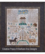 The Fall Sampler cross stitch chart Barbara Ana Designs - $18.00