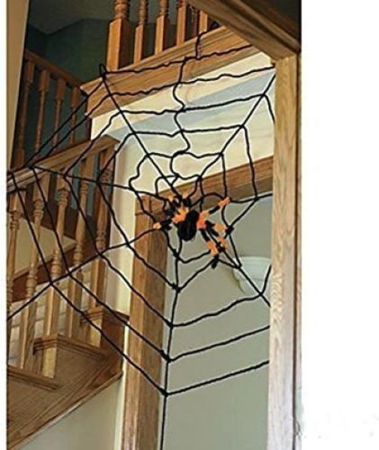 Genluna Halloween Creepy Spider Web Halloween Decorations Spiders Cob