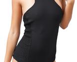 Tori Praver High Neck Cheeky Brazilian Monokini Halter One Piece Swimsuit New L