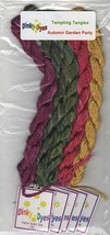SILK FLOSS PACK for Autumn Garden Party cross stitch chart Dinky Dyes - $20.25