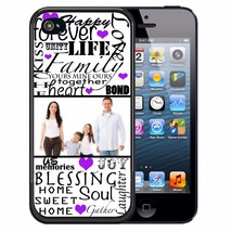 CUSTOM IMAGE RUBBER CASE FOR iPHONE 8 7 6S 6 5S 5C SE FAMILY TYPOGRAPHY - $13.98