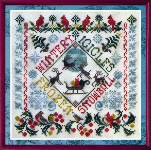 SILK FLOSS PACK for Winter Garden Party cross stitch chart Dinky Dyes