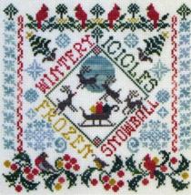 Winter Garden Party cross stitch chart Tempting Tangles - $9.00