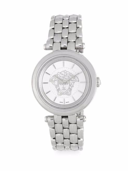 Authentic Versace Khai Round Bracelet Analog Watch NEW IN BOX Orig $1695 - $850.00