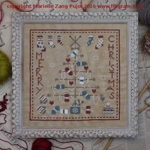 Knitting Christmas Tree cross stitch chart Filigram - $9.90