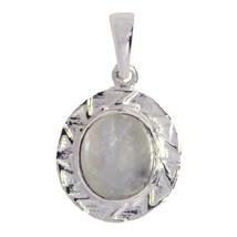 Solid 925 Sterling Silver Gorgeous Rainbow Moonstone Jewelry Pendant SHPN0404 - $8.40