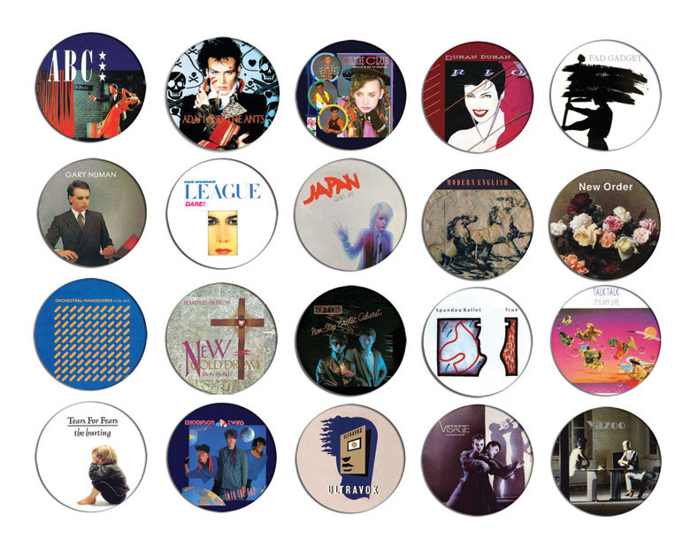 80s new wave collection pin pinback button badge magnet. Black Bedroom Furniture Sets. Home Design Ideas