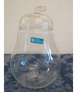 "Vintage Anchor Hocking Contemporary Crystal Pear Cookie Apothecary Jar 9"" - $38.72"