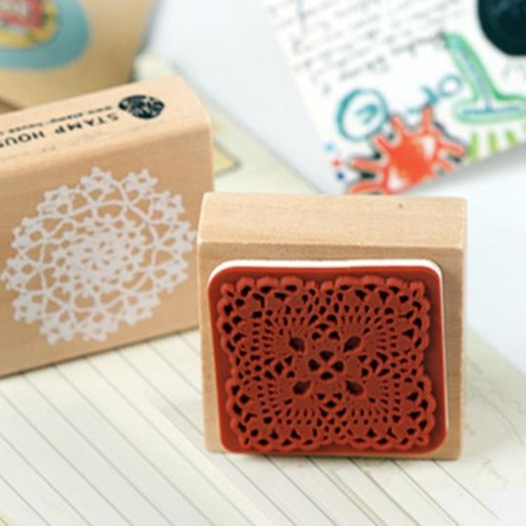 Diy scrapbooking alphabet stamps vintage wood rubber craft for Custom craft rubber stamps