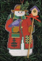 Avian Snow Folks Ornament kit christmas perforated paper cross stitch kit - $5.40