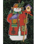 Avian Snow Folks Ornament kit christmas perforated paper cross stitch kit - $5.40
