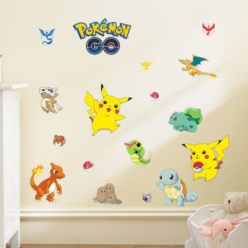 3d cartoon animal pokemon pikachu wall stickers for kids for Wall stickers for kids room