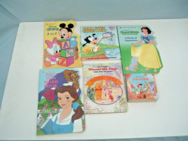 walt disney board chunky 6 book lot pinocchio, winnie the pooh, snow white - $15.85