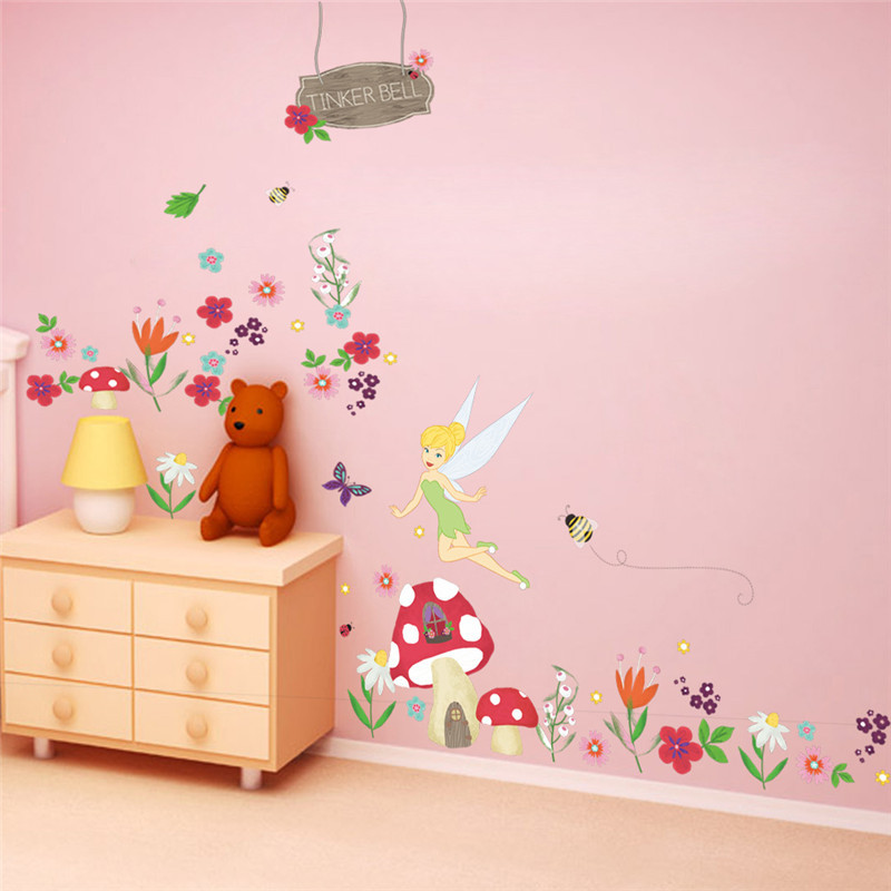 girls gift poster wall sticker for kids room removable ...
