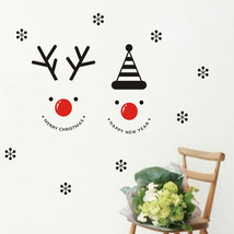 Elk Snowflake Snowman Christmas decoration wall... - $20.03