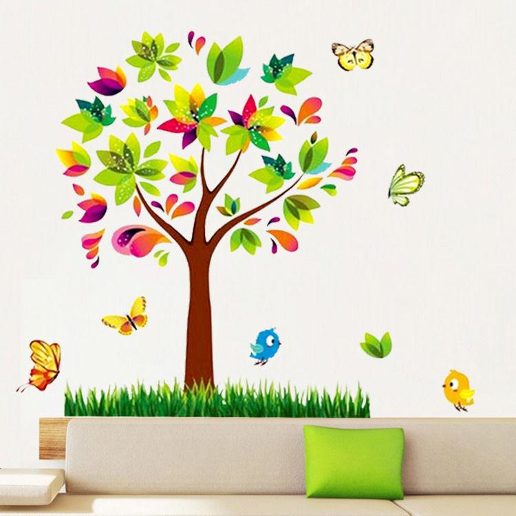 flower scroll tree butterfly birds wall sticker decals buy roommates 3d butterflies peel amp stick wall decals from