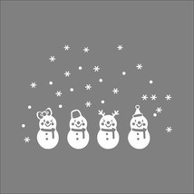 Snowflake Merry Christmas Snowman Vinyl wall sticker Decals Window decor... - $8.68