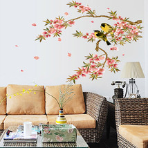 Decal Decorative Wall Sticker Peach Blossom Bir... - $11.14