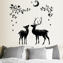 Moonless Deer Silhouettes Christmas Decoration Decal Window Stickers Hom... - $12.15
