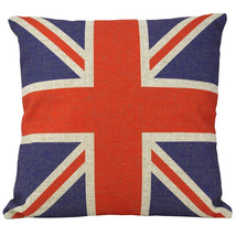 Vintage British Style Linen Home Throw Pillow Case  - $14.80